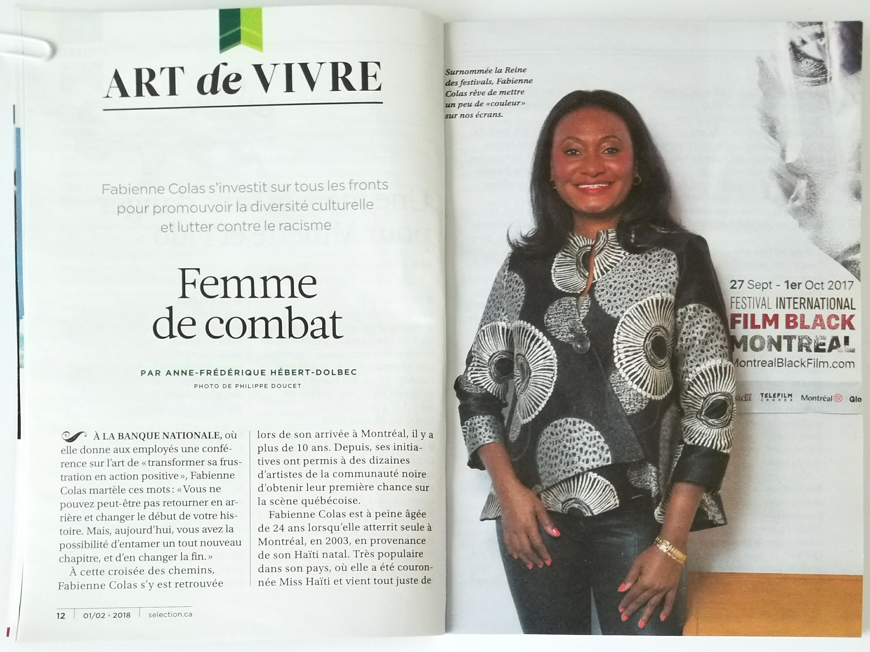 46e8af613f09f6 Article readers Digest - spread 2 first pages+   Fabienne Colas